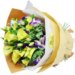 10pcs Yellow Calla Lily Bouquet  Valentines Day
