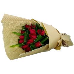 Elegant Love  One Dozen Roses Bouquet  Valentines Day