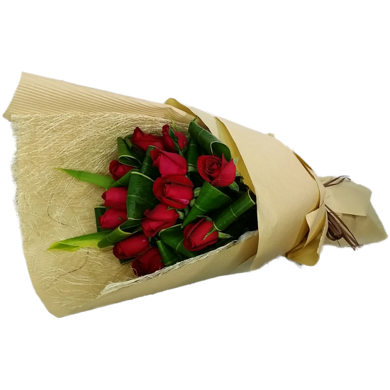 Elegant Love  One Dozen Roses Bouquet
