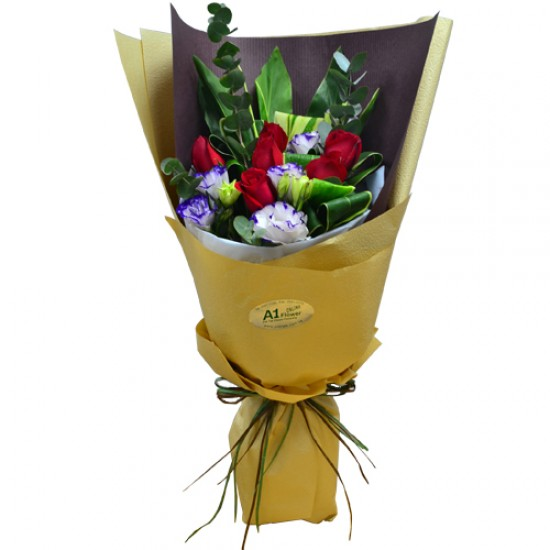 Half Dozen Roses Bouquet  Simple but Elegant  Valentines Day